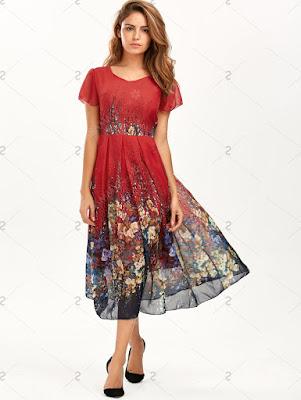 Czerwona sukienka z Sammydress