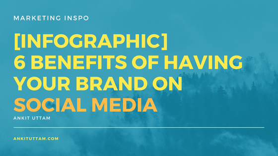 Six Benefits of having your brand on Social Media
