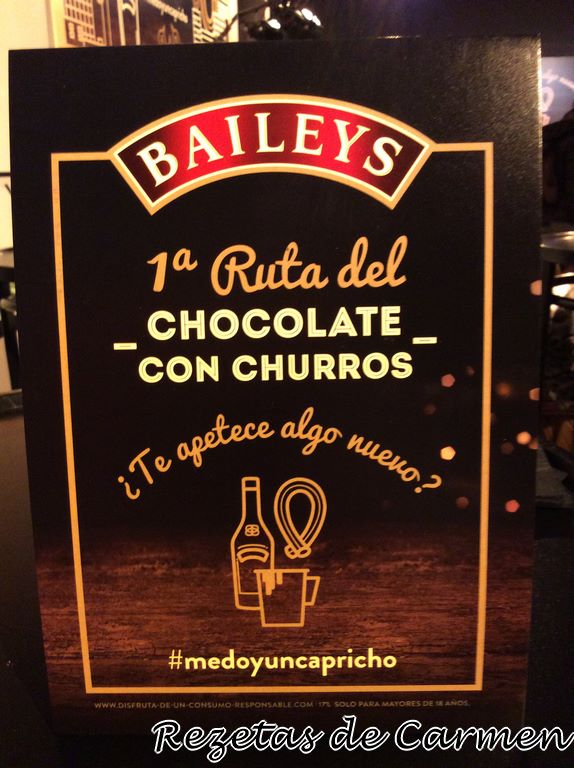 I Ruta Baileys del chocolate con churros.