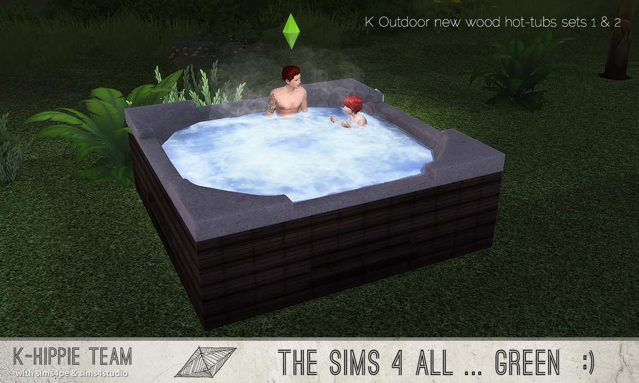 my sims 4 blog k outdoor new wood hot tubs 2x7 hot tubs sets 1 2 by blackgryffin. Black Bedroom Furniture Sets. Home Design Ideas