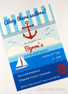 Nautical Sail Boat Party Invitation