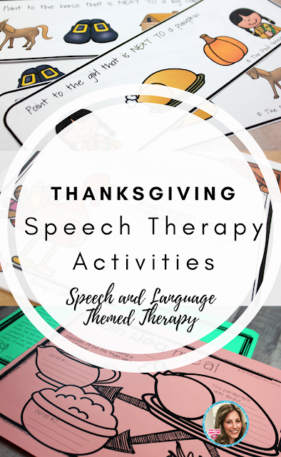 Thanksgiving speech therapy ideas