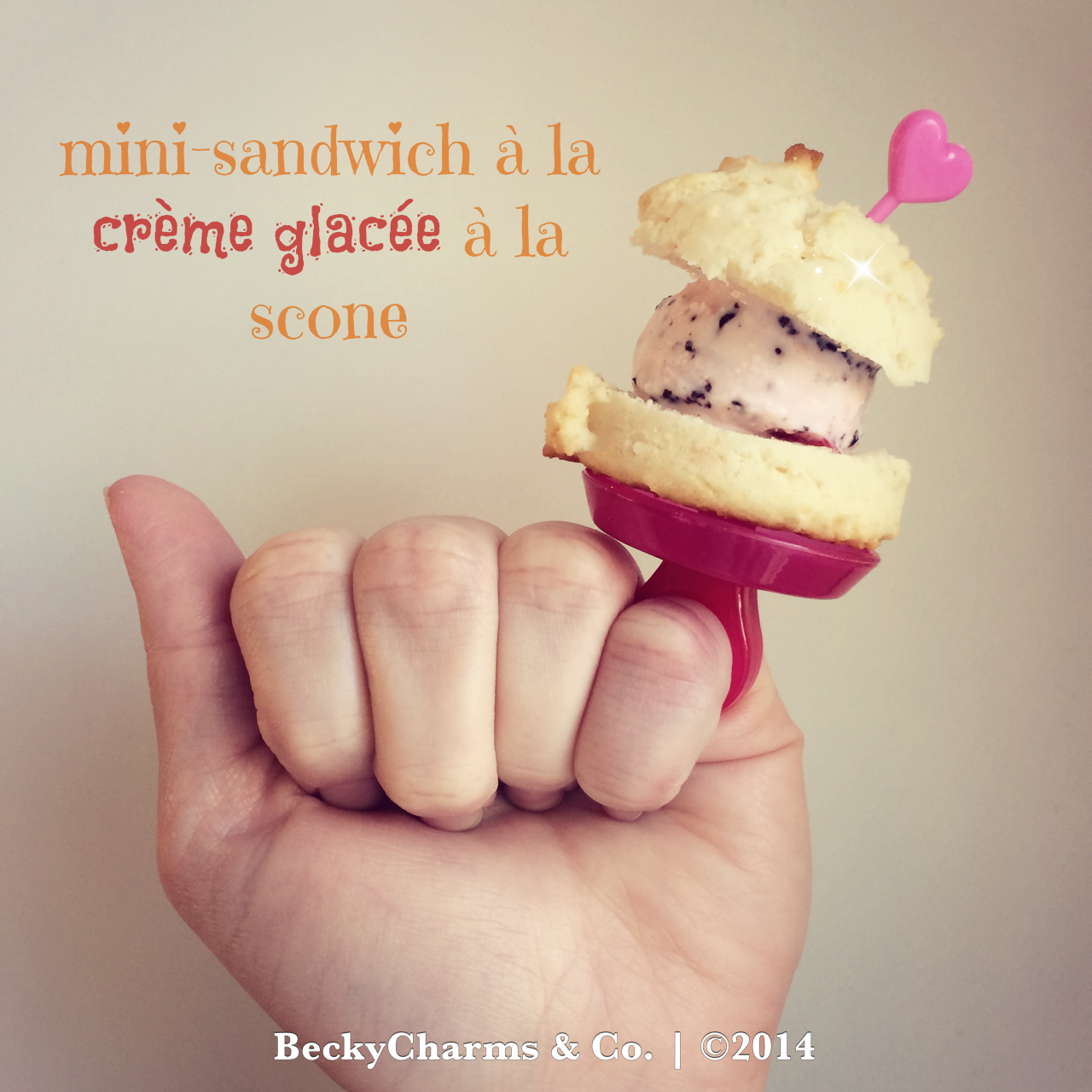 Mini {Lemon} Ice Cream Scone Sandwiches 2014 by BeckyCharms