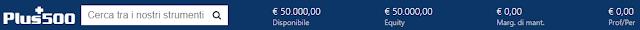 Come appare la barra del conto trading in tempo reale