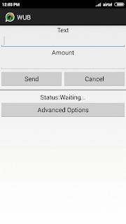 WUB app open
