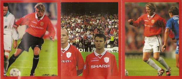 30a5ef8152c Manchester United ~ Europe 2000 (stickers) Futera Fans Selection 159  stickers