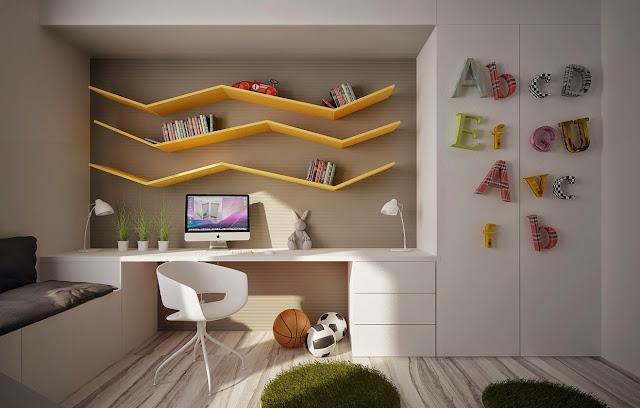 Le bureau doit être bien rangé pour que l'enfant ait l'envie d'y rester et d'y travailler dans de bonnes conditions.