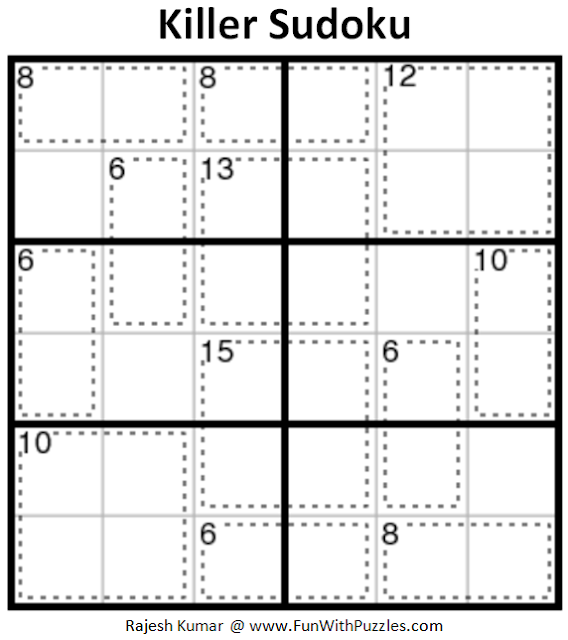 Killer Sudoku (Mini Sudoku Series #92)