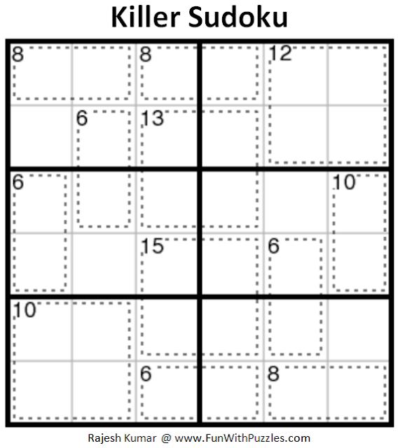 Killer Sudoku (Mini Sudoku Series #92)