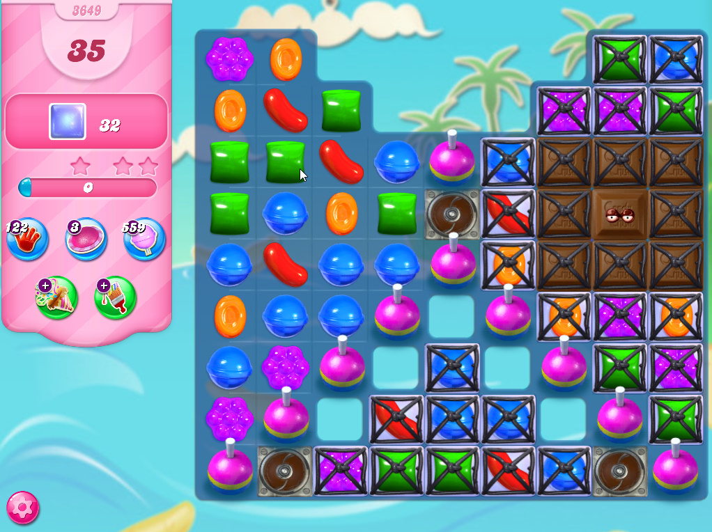 Candy Crush Saga level 3649