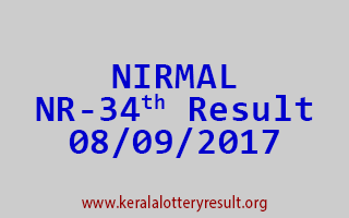NIRMAL Lottery NR 34 Results 8-9-2017