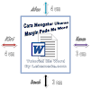 Cara Mengatur Margin Ukuran Kertas Pada Ms Word Plus Video