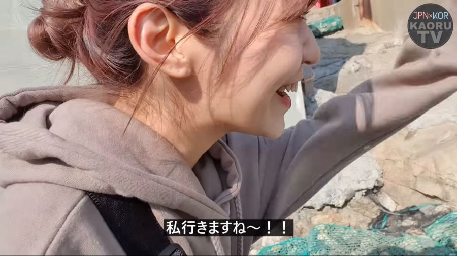부산 해녀촌에 놀러간 일본 여성
