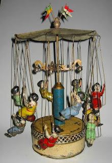 Carrusel Bing de hojalata 1830