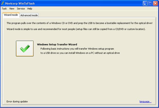 cara install windows 7 lewat flashdisk Persetujuan menggunakan wintoflash transfer wizard