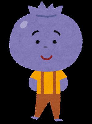 ブルーベリーのキャラクター