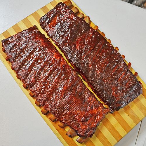 Smoked BBQ spare ribs