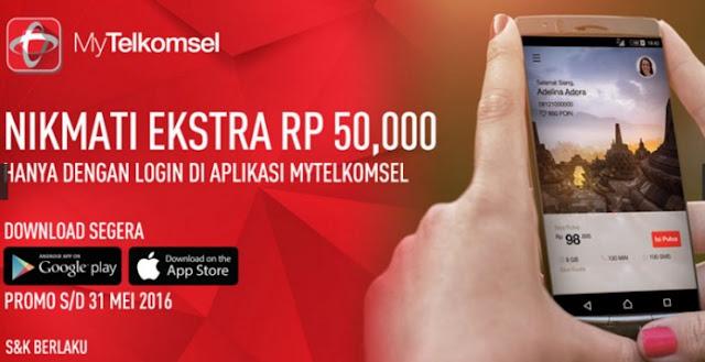 Ingin Dapat PULSA Gratis 50 Ribu Download Aplikasi My Telkomsel Sekarang Juga