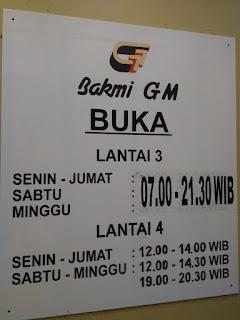 Bakmi GM, Jalan Sunda