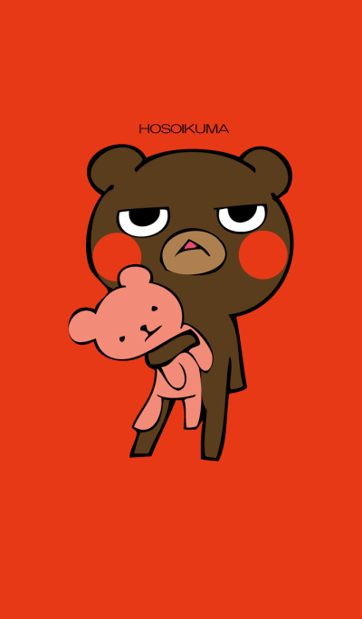 Thin bear Red.