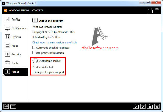 Windows Firewall Control - A lightweight application that lets you quickly access the most frequently used options from Windows Firewall.