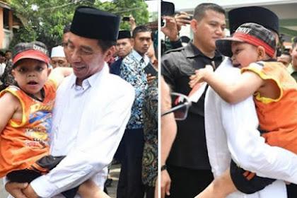 Sambutan Histeris Bocah Peluk Jokowi, Adakah Rekayasa? Seperti Ada yang janggal