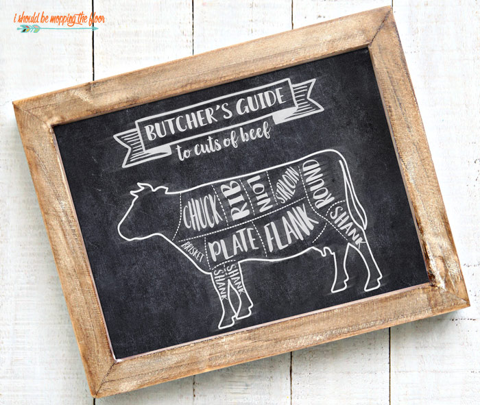 Free Butcher Printable