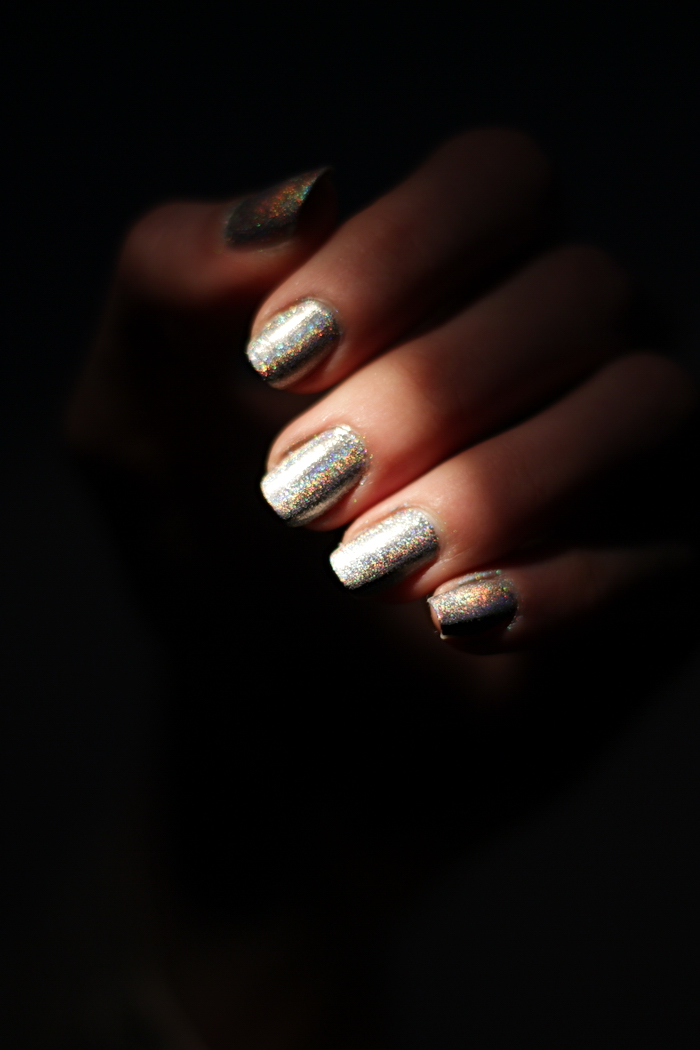 Holo Nagel Puder Nageldesign