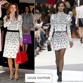 Queen Rania wore Louis Vuitton dress - Fall - 2015