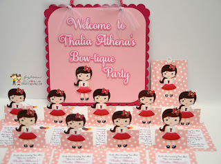 bowtique party, first birthday invitations, minnie mouse invitations