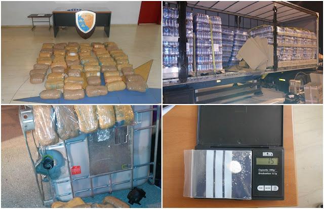 Σύλληψη 43χρονου Ηγουμενιτσιώτη που έστελνε στην Ιταλία 65 κιλά Χασίς και με Κοκαϊνη (+ΦΩΤΟ)