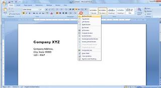 f কিভাবে Business Letterhead WORD 2007 এবং 2010 এ তৈরী করা যায়? | Techtunes কিভাবে Business Letterhead WORD 2007 এবং 2010 এ তৈরী করা যায়
