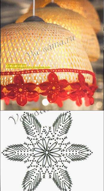 Apliques de flores y uvas para decoración