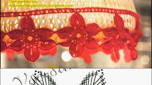 Lámparas decoradas con crochet
