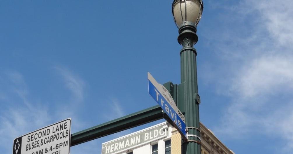 Houston Streetwise Travis Street In Downtown Houston