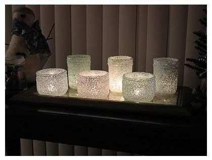 Kerajinan Tangan Yang Mudah | Wadah Lilin Glitter