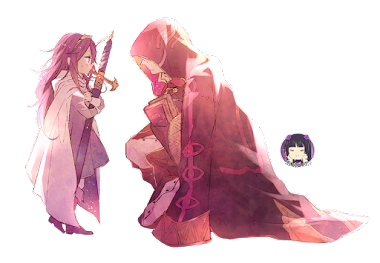 PNG-Lucina y Robin // Fire Emblem Awakening