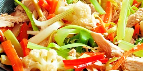 Salteado multi verduras al wok