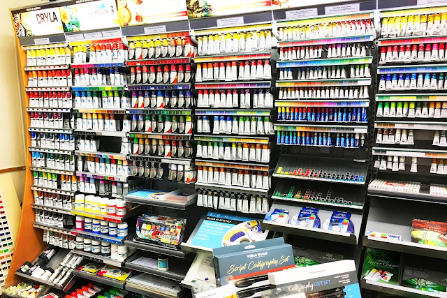 Winsor and Newton acrylic paints
