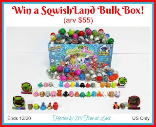 Enter the SqwishLand Bulk Box Giveaway. Ends 12/20