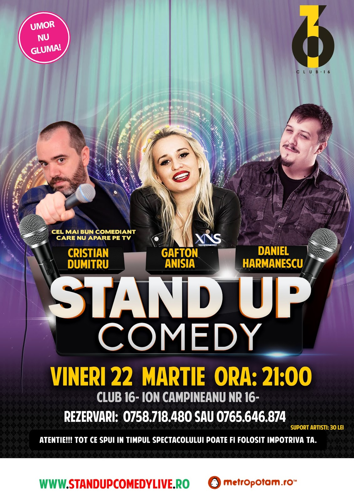 Stand-Up Comedy Bucuresti Vineri 22 Martie 2019