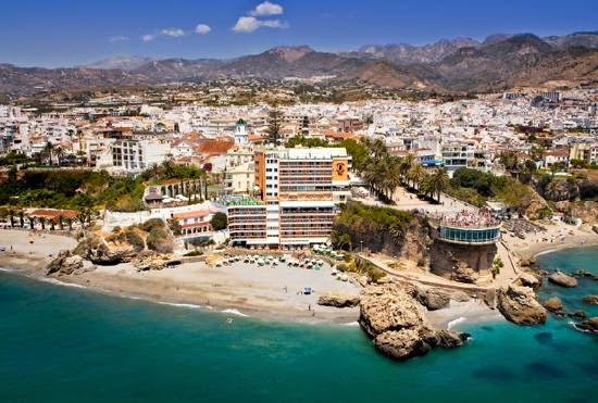 Tourism in Nerja, Málaga, Spain