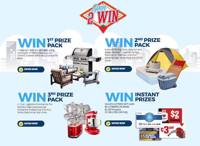 Spin to WIN Instant Prizes from Canadian Tire