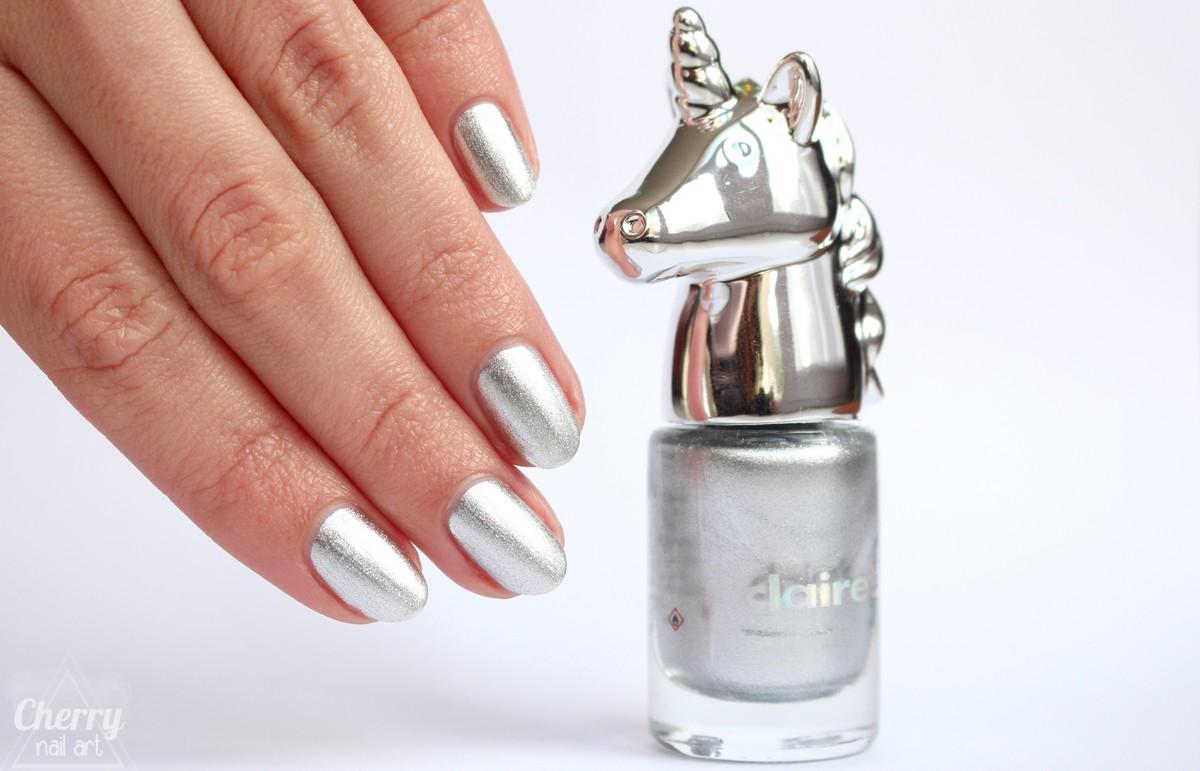Vernis-à-ongles-licorne-claire's-argenté-Unicorn-Pwr