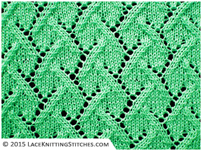 Lace knitting - Free chart no.09