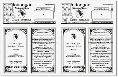 Download Undangan Walimatul Ursy 2 Kolom Gratis