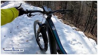 Die Schiebehilfe des Specialized 2.1 Antriebs (Brose Drive S Mag) war eine gute Hilfe im Schneefeld