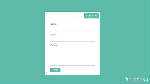 Cara Membuat Show Hide Contact Form di Sudut Blog