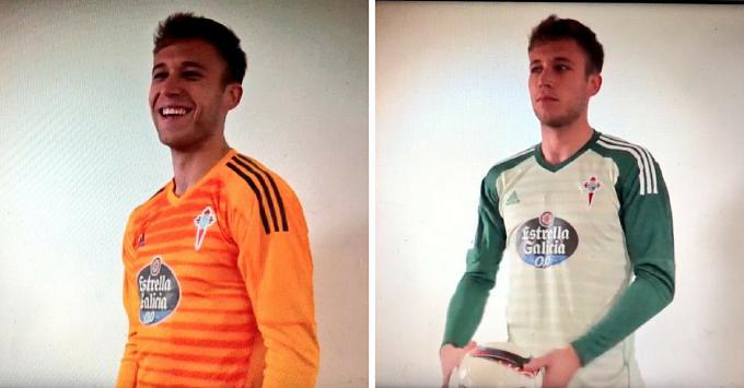 Así son las nuevas camisetas de portero del Celta ~ Celta de Vigo ... f4be3f5b0956f