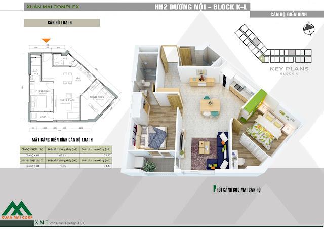 Chung cư cao cấp  Xuân Mai Complex Dương Nội từ 900tr/2PN, đủ nội thất